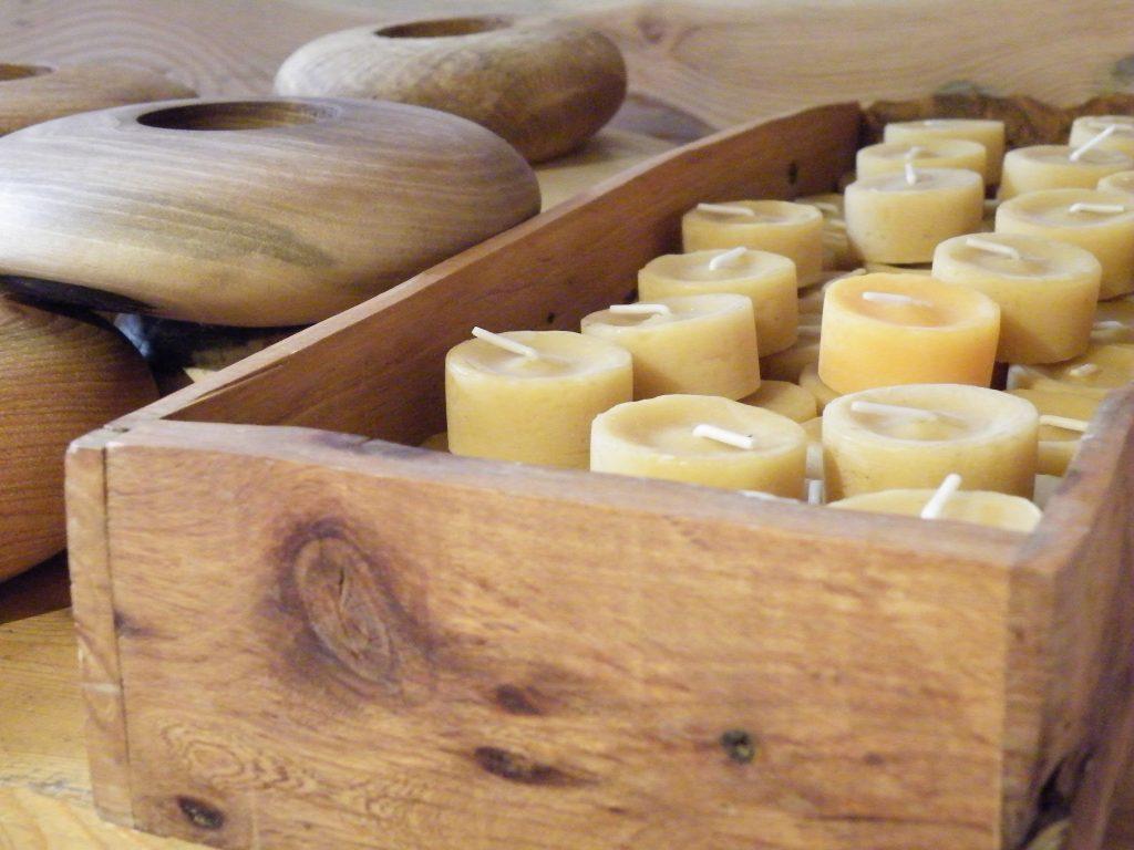 Waxinelichtjes van 100% bijenwas